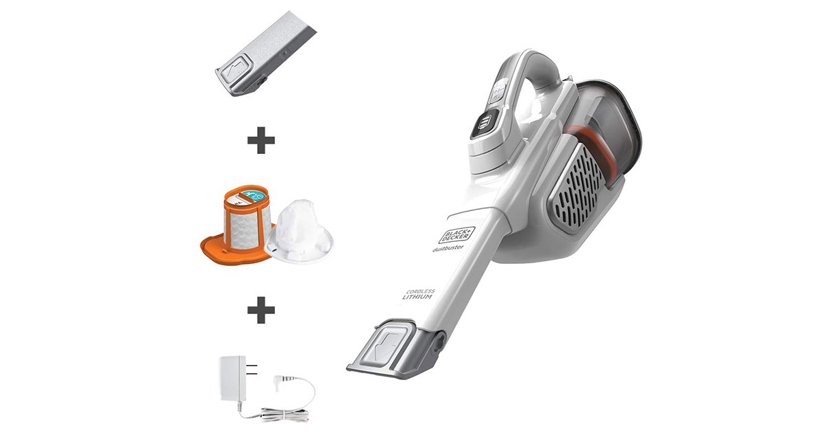 BLACK+DECKER HHVK320J10 dustbuster Handheld Cordless White Vacuum Cleaner image