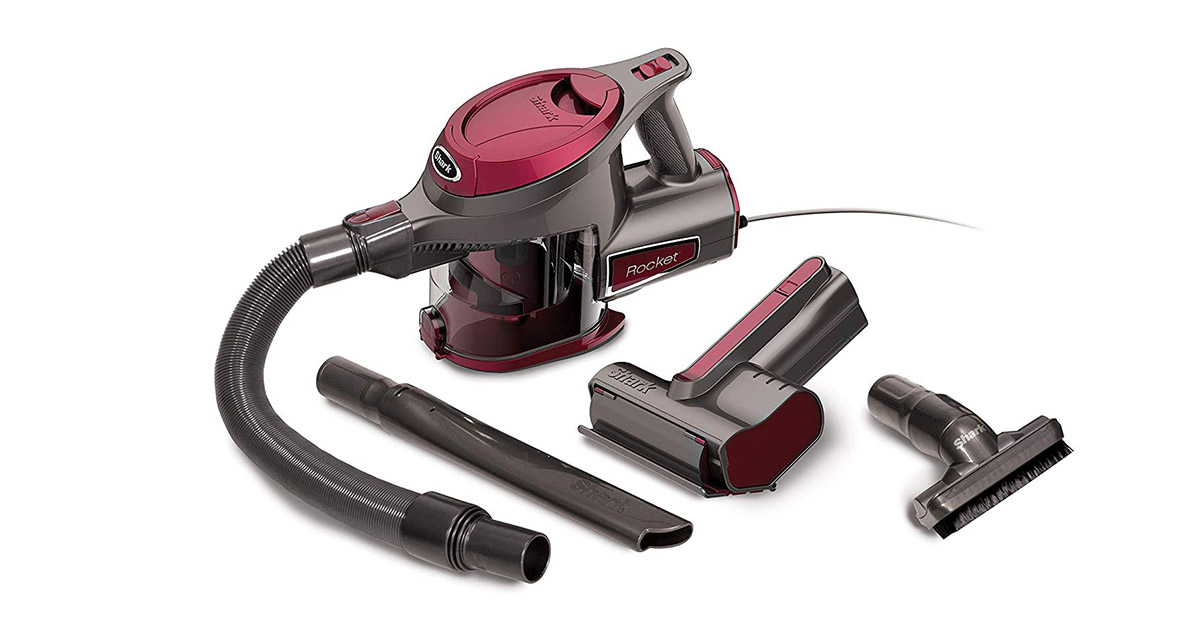 Shark HV292 Rocket Ultra Light with TruePet Mini Motorized Brush and 15 foot Power Cord Hand Maroon Vacuum Cleaner image