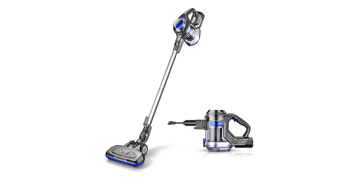 MOOSOO M X6 Cordless 4 in 1 Powerful Suction 10Kpa Stick Handheld Gray   Blue Vacuum Cleaner image